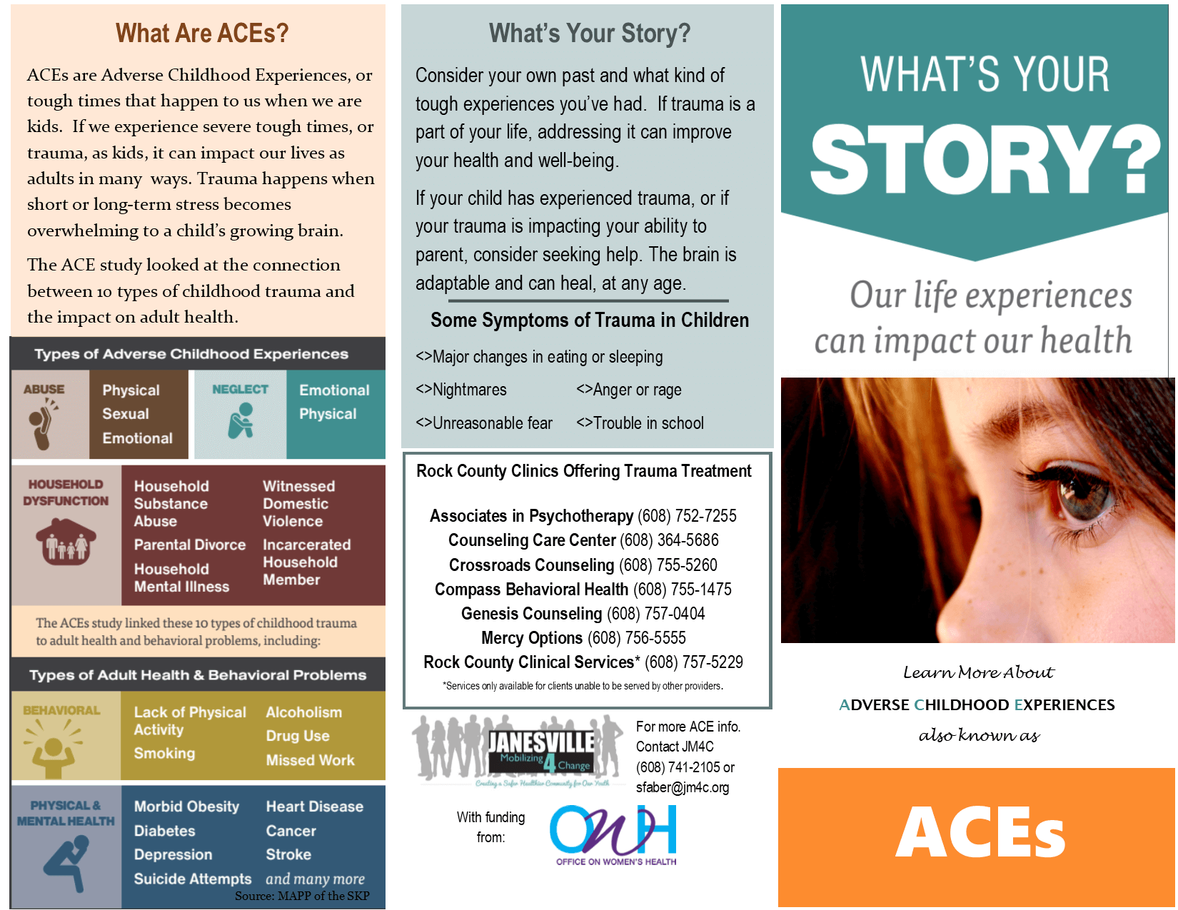 More On Adverse Developmental Impacts >> Adverse Childhood Experiences Janesville Mobilizing 4 Change